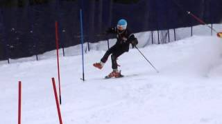 Banff Alpine Racers, Dual slalom race with one ski on training at Norquay, Banff