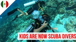 We are a PADI OPEN WATER CERTIFIED family - Family Travel