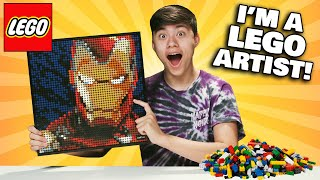 HOW TO BECOME A LEGO ARTIST!!! Marvel Studios Iron Man Art!
