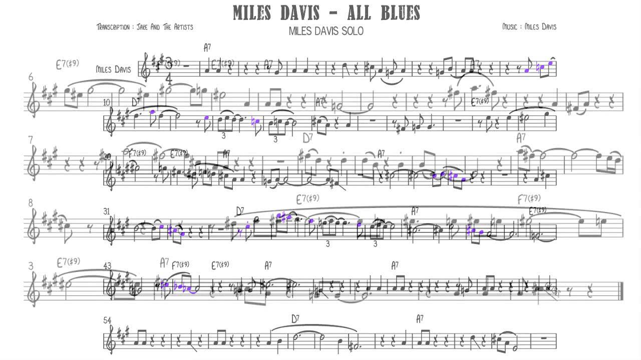 miles davis esp chart pdf