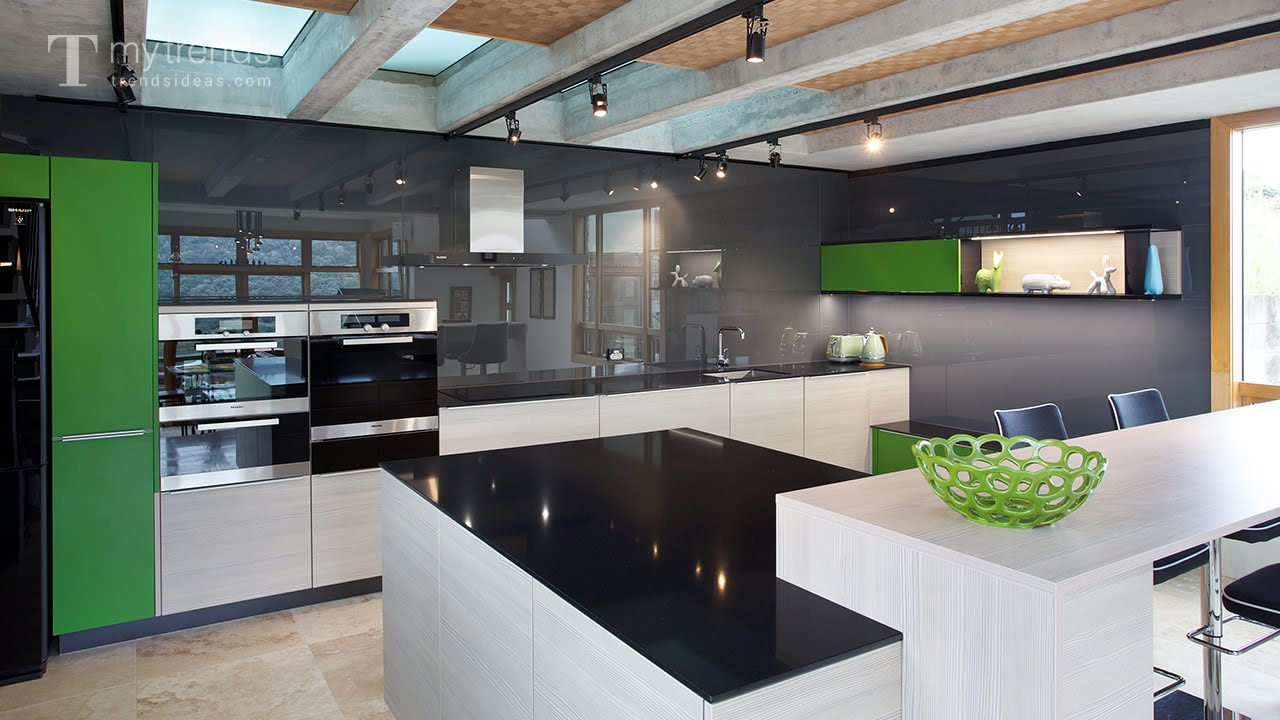 Award Winning Poggenpohl Kitchen With Black Backsplash