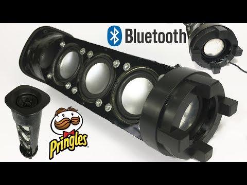 DIY Mini Bluetooth Speaker Make Using a Pringles Can [PAM8403 3W+3W Amplifier]