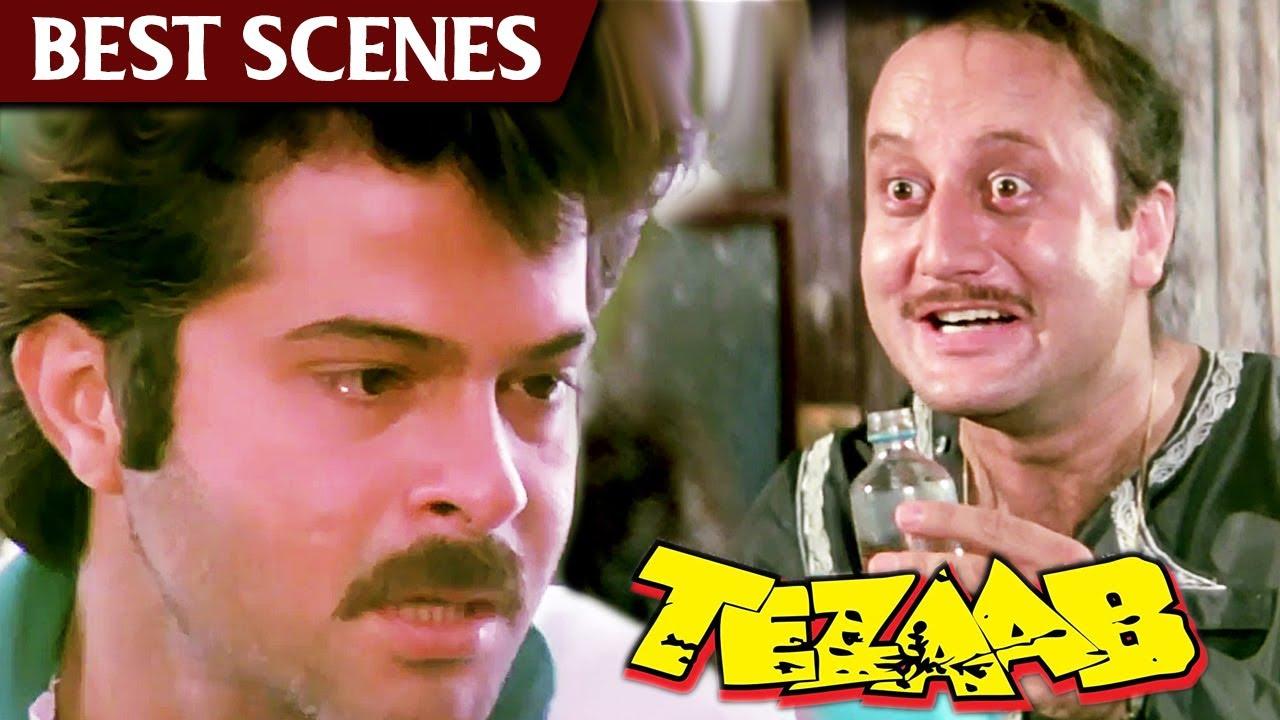अनुपम खेर ने अपनी बीवी को मारने की धमकी दि   Tezaab   Anil Kapoor, Madhuri Dixit, Anupam Kher (HD)