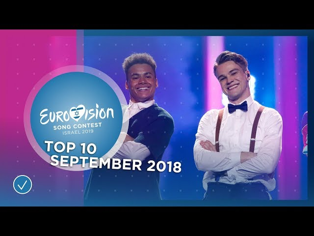TOP 10: Most watched in September 2018 - Eurovision Song Contest