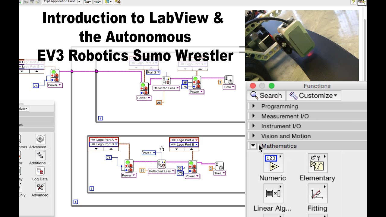 Labview EV3 Autonomous Navigation For Sumo Wrestling Robot