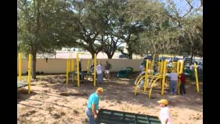 Community Playground Installation With Gametime