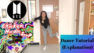 Dance Tutorial Chicken Noodle Soup by Jhope ft. Becky G (Explanation&Mirrored) | Felicia Tay