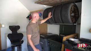 homepage tile video photo for Maxxhaul Folding Tire Wall Mount Install and Review