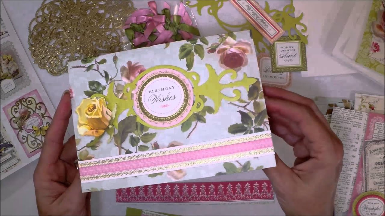 anna griffin card making instructions youtube