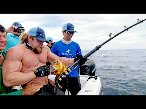 Corey Calhoun - Who Wins Between Strongest Men Vs Strongest Fish?!