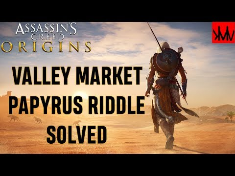 Assassins Creed Origins: Valley Market 'The Blasphemer' Papyrus Riddle SOLVED