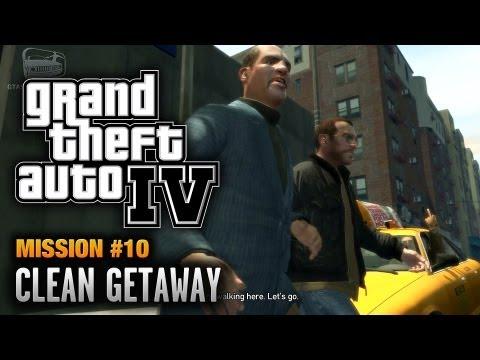 GTA 4 - Mission #10 - Clean Getaway (1080p)