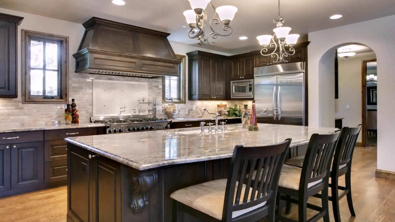 White Kitchen Cabinets With Steel Gray Granite Countertops Youtube