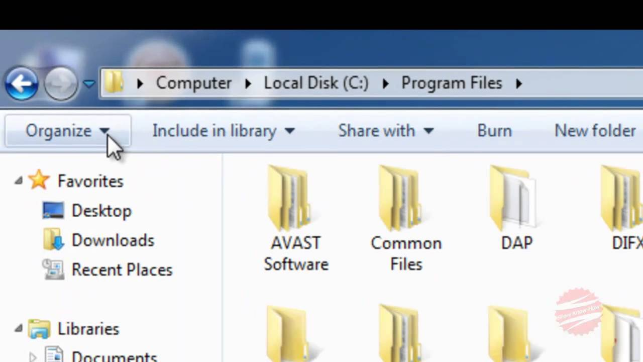 How to change folder view 62