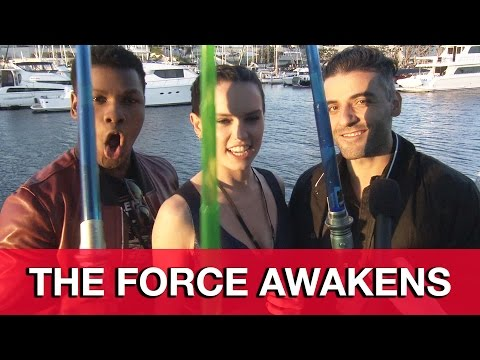 Star Wars The Force Awakens Interview - Oscar Isaac, Daisy Ridley & John Boyega