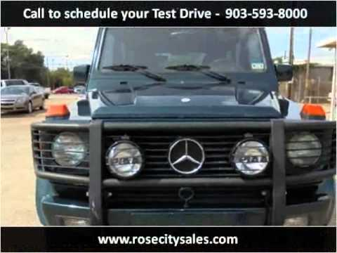 1994 mercedes benz g class used cars tyler tx youtube for Mercedes benz tyler texas