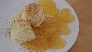 Recipe: Ice Cream With Caramelized Apple Hearts | Romantic Dessert [recipe Diary]