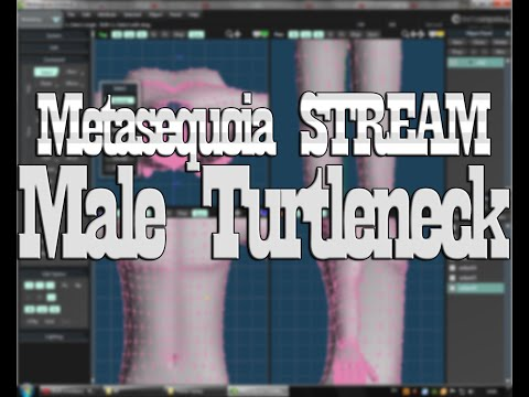 [Metasequoia STREAM] Modeling - Male Turtleneck