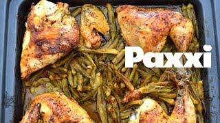 Ζουμερές μπάμιες με κοτόπουλο στο φούρνο - Ε41 - Juicy Okra With Chicken On Oven