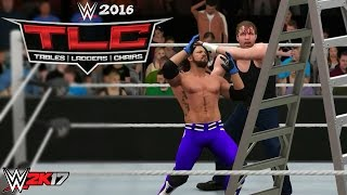 WWE 2K17 - TLC 2016 AJ Styles vs Dean Ambrose Prediction Highlights!!!