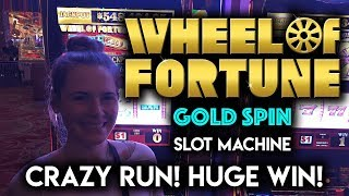 SLOTLADY IS ON FIRE! MASSIVE WIN! Wheel of Fortune Gold Spin Slot Machine!