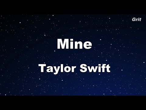 Mine - Taylor Swift Karaoke【No Guide Melody】