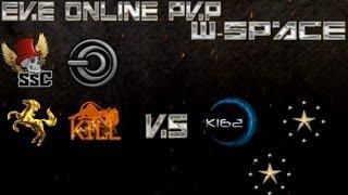 EVE Online WormHole PVP 100Bil Loss VOC,SSC,KILL,HRDKX vs K162,NOHO,W-SPACE