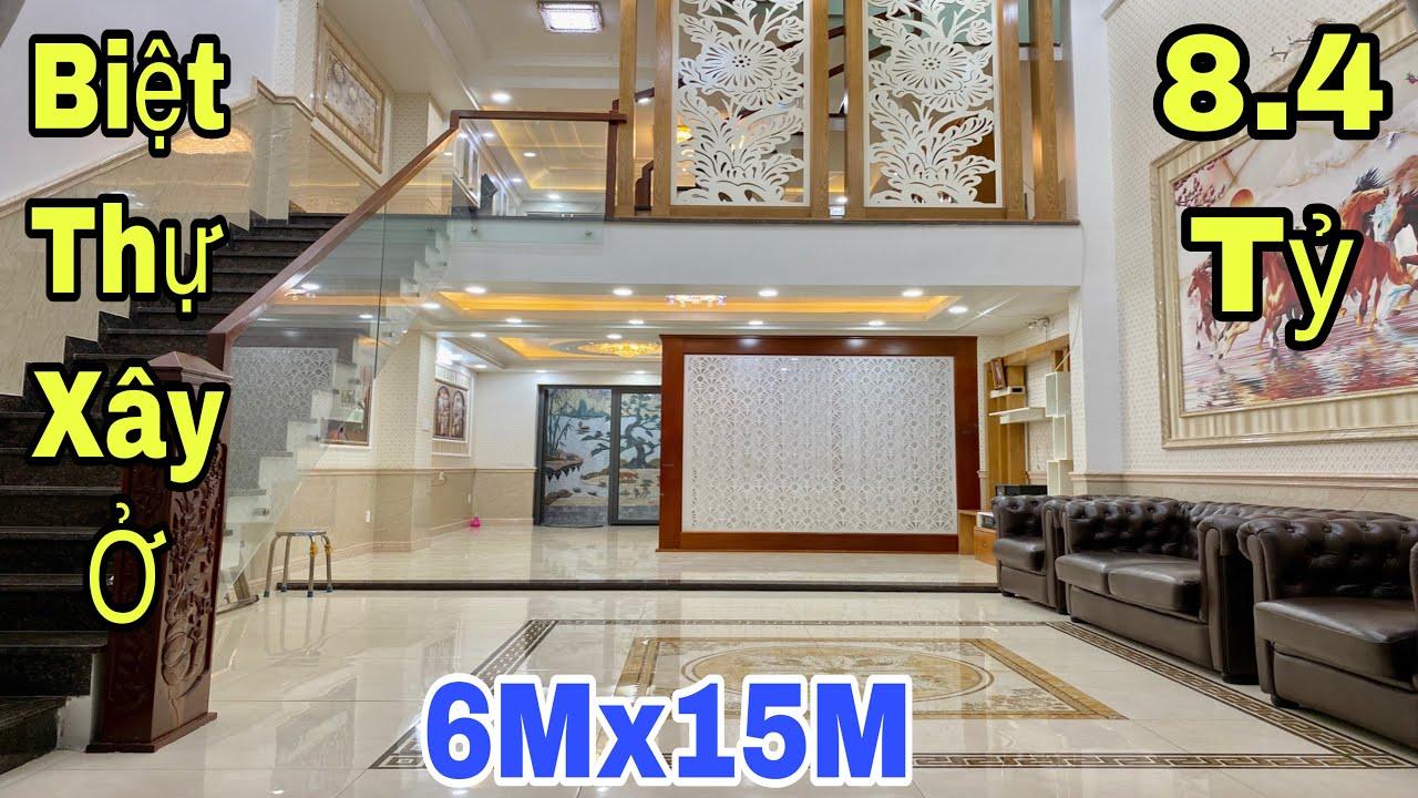 Bán nhà Gò Vấp| Siêu biệt thự phố xây ở 6x15m tại đường Lê Văn Thọ|giá rẻ 8,4 tỷ
