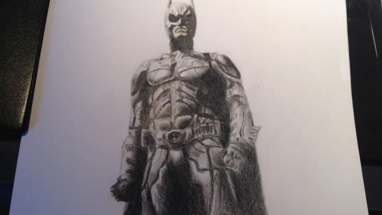 Timelapse drawing the dark knight batman part 2 2 dessin du chevalier noir batman partie 2 2 - Dessins de batman ...