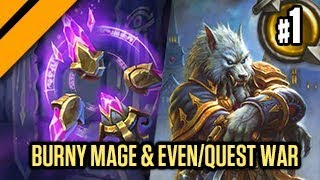 Hearthstone: The Witchwood - Burny Mage & Even/Quest Warror!