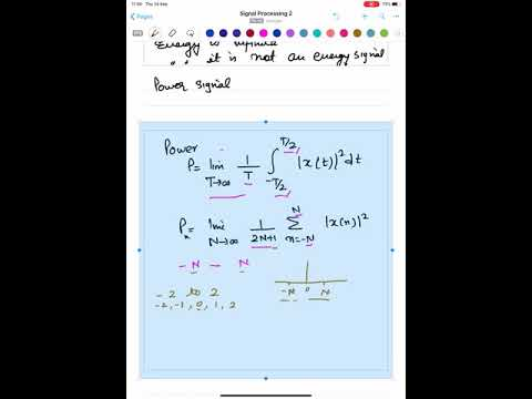 Signal Processing 2- Lecture 3: Energy and Power Signals