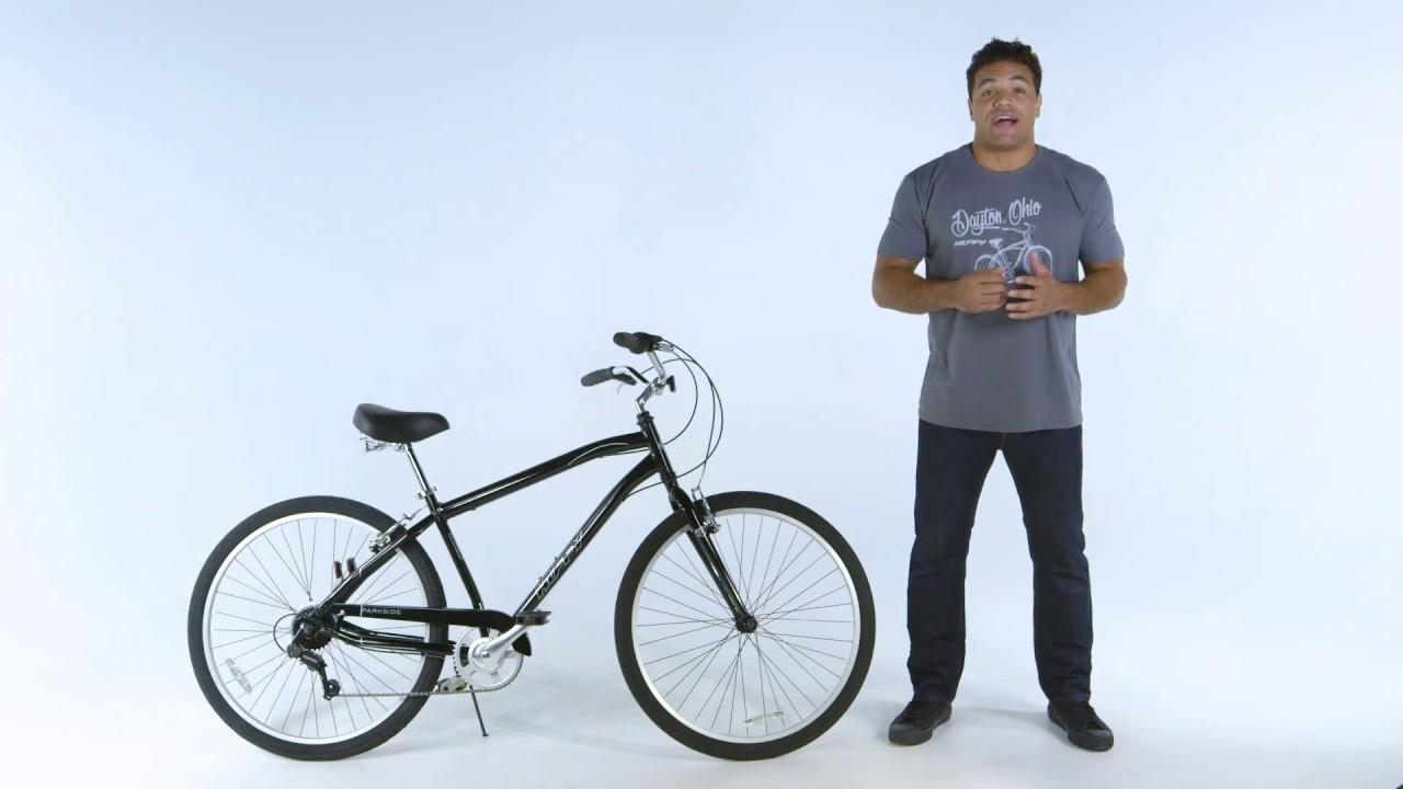 27 5 inch Parkside Mens City Bike Black 56727