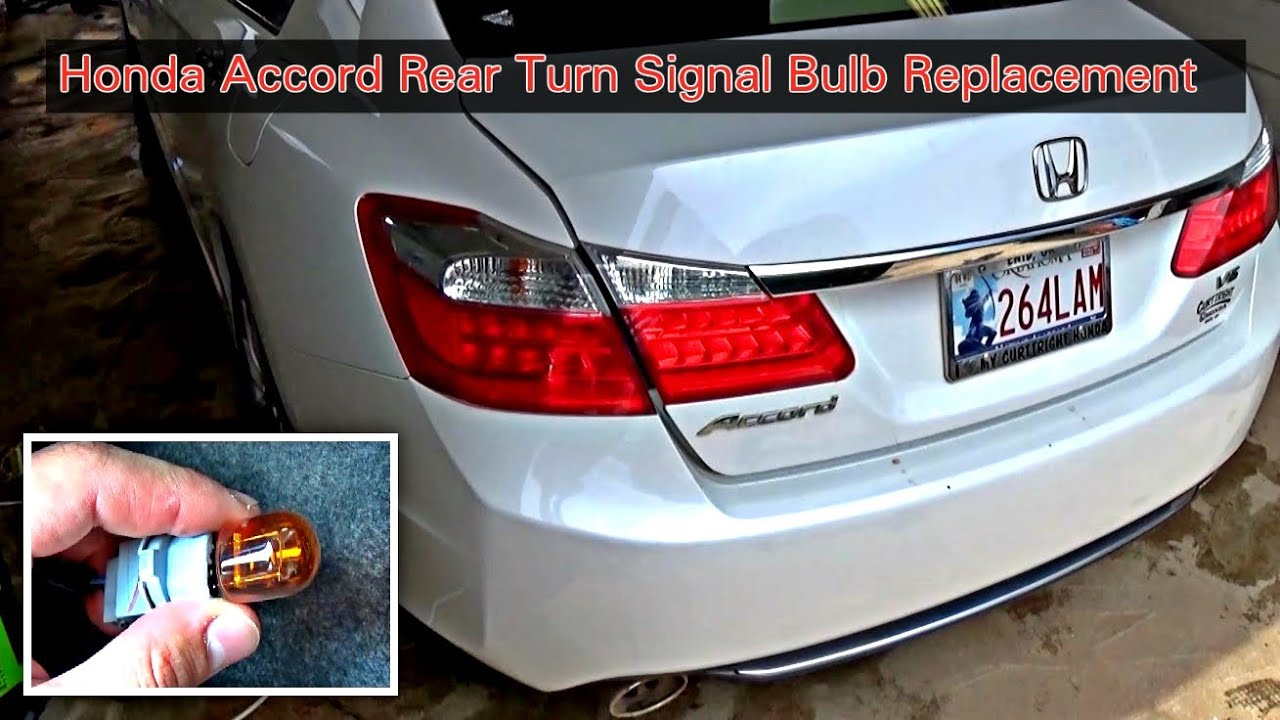 How To Replace Rear Left Or Rear Right Turn Signal Bulb On