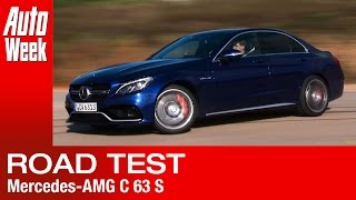 Mercedes-AMG C 63 S road test - English subtitled