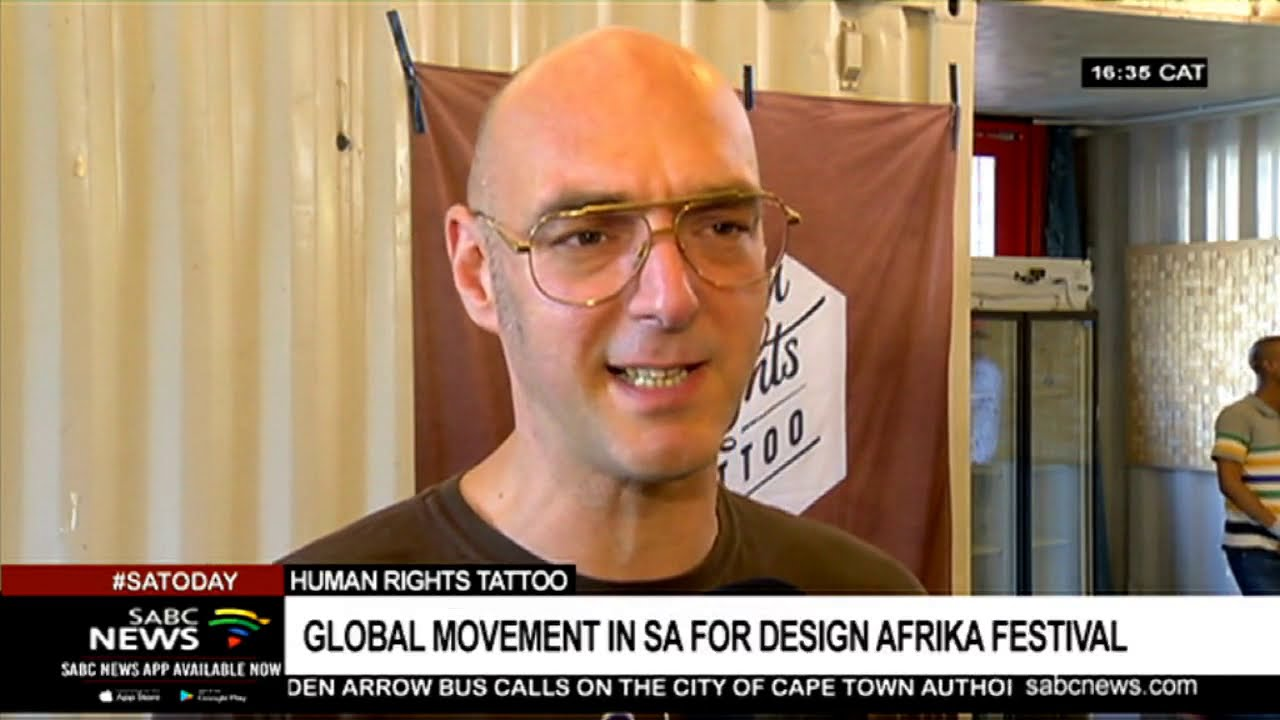 Human Rights Tattoo Global Movement In Sa For Open Design Afrika Festival