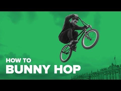 Как сделать банихоп на велосипеде (How to bunny hop BMX)