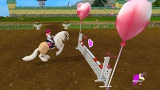NEW Race, Show Jumping, Valenintes Update Star Stable Online Horse Game Video