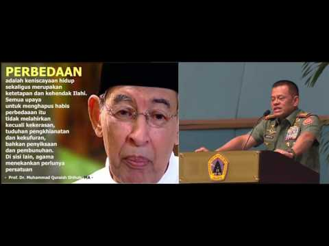 Panglima TNI Sampaikan Kata kata Mutiara Para Tokoh Bangsa