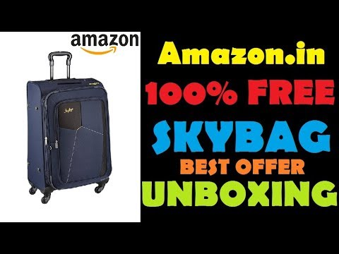 Skybags Footloose Rubik Polyester 580 mm Blue Softsided Cabin Luggage | AMAZON UNBOXING Video