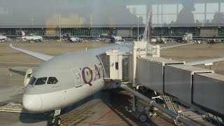 Qatar Airways Boeing 787 Dreamliner business class Brussels to Doha