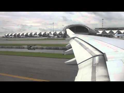 *rainy arrival* Kuwait Airways A340-300 Bangkok - Manila