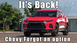 2019 Chevrolet Blazer. When will they be on Dealer Lots?