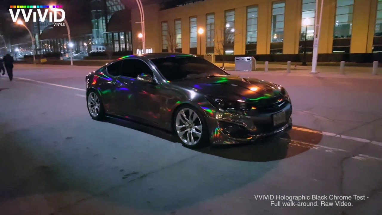 VViViD Black Chrome Holographic walk-around Hyundai ...