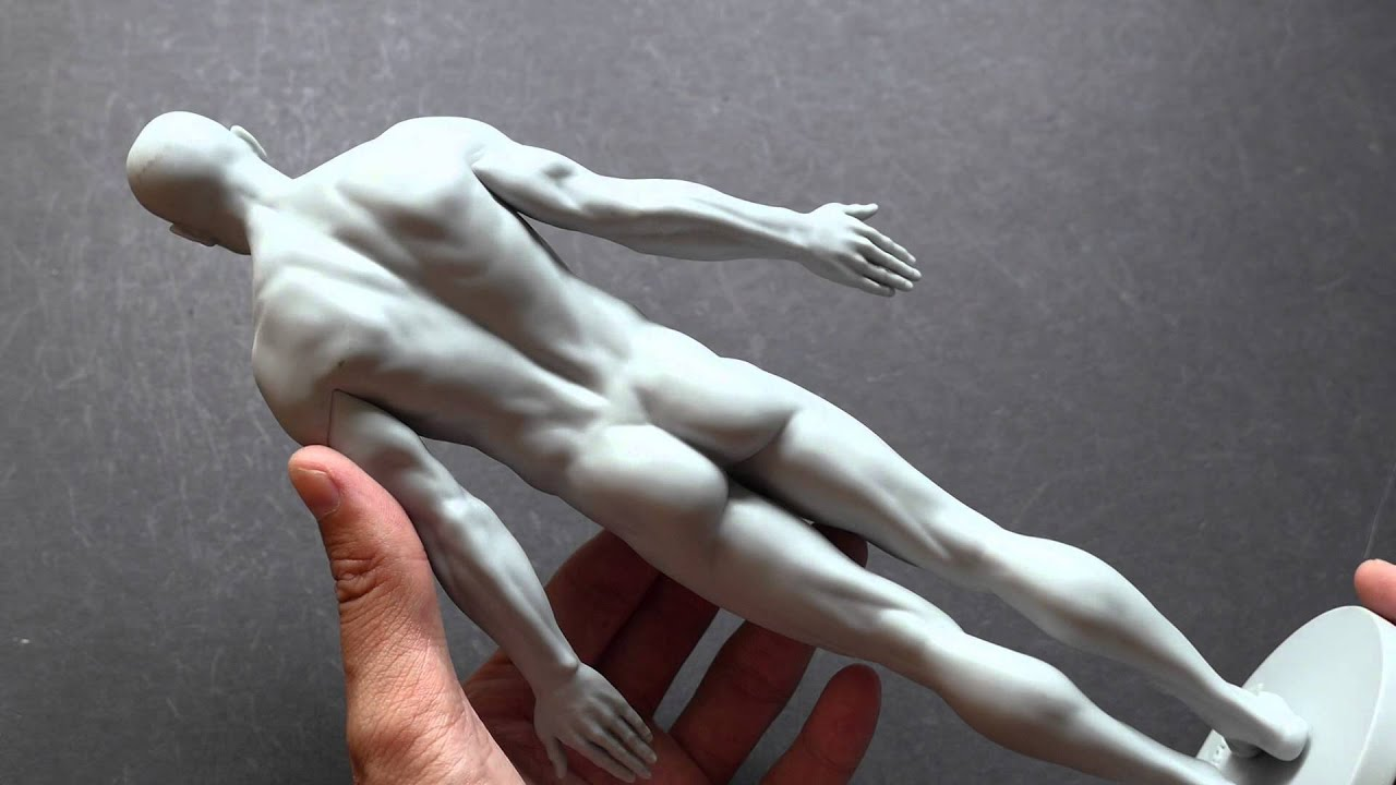 3dtotal Male Skin Realistic Anatomy Figure Review Youtube