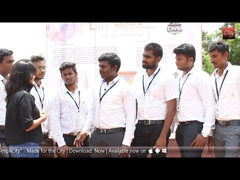 Plastic bottles as bricks..! Cool innovation of Adithya Institute of Technology Students