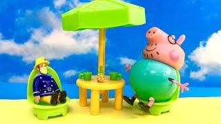 Swinka Peppa i Strazak Sam - Bajka po Polsku - Ucieczka na plaze