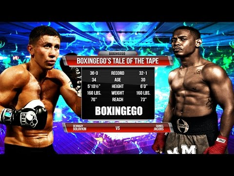 """GENNADY """"GGG"""" GOLOVKIN VS. DANNY JACOBS Tale Of The Tape (BOXINGEGO FIRST LOOK)"""