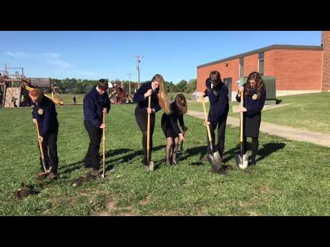 Royal Valley High School FFA officers broke ground on a new greenhouse this morning.