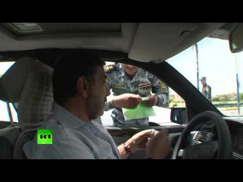 Life between checks  RT crosses Iraq security line  YouTube