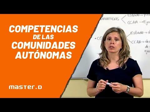 Competencias de las Comunidades Autónomas